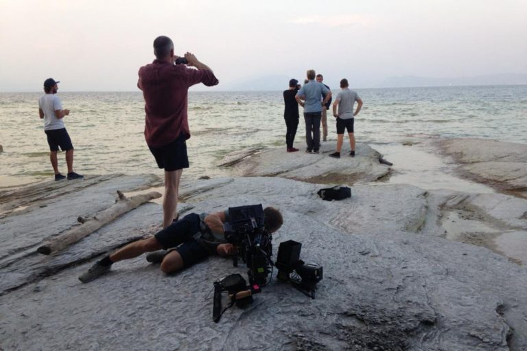 Filming Crew in Italy